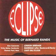 1423 Eclipse: Music of Bernard Rands (b. 1934)